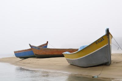 Boats on Beach, Moulay Bousselham, Kenitra Province, Morocco by Jean-Christophe Riou
