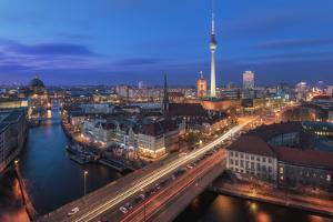 Berlin - Classic Skyline by Jean Claude Castor