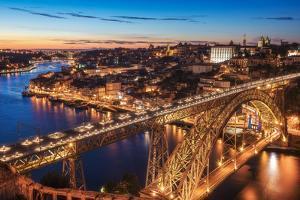 Portugal - Porto Blue Hour by Jean Claude Castor