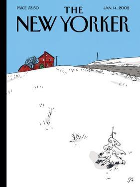 The New Yorker Cover - January 14, 2002 by Jean Claude Floc'h