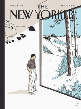 The New Yorker Cover - January 15, 2001 by Jean Claude Floc'h