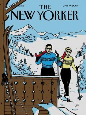 The New Yorker Cover - January 19, 2004 by Jean Claude Floc'h