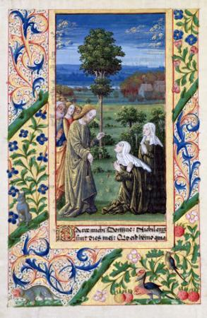 Martha and Mary Telling Jesus of the Death of Lazarus, Book of Hours of Louis D'Orleans, 1469 by Jean Colombe