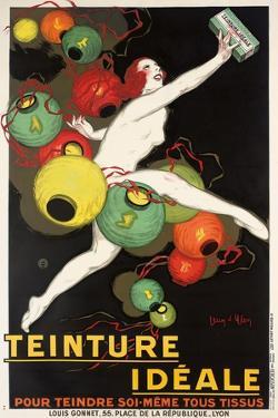 'Teinture Idéale'. Werbeplakat für 'Idéale' Textilfarben. 1927 by Jean D'Ylen