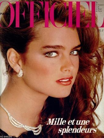 L'Officiel, December 1981 - Brooke Shields by Jean-Daniel Lorieux