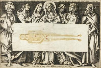 The Holy Shroud of Besançon, 1634 by Jean de Loisy