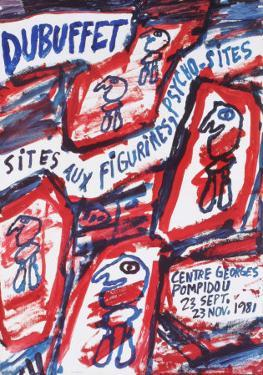 Sites aux Figurines Psycho-Sites by Jean Dubuffet