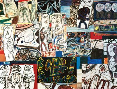 Tissu d'Episode, 1976 by Jean Dubuffet