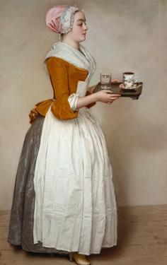The Hot Chocolate Girl, about 1744/45 by Jean-Etienne Liotard