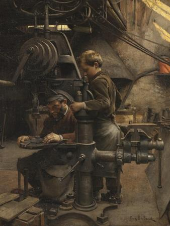 Un Patron or The lesson of the Apprentice, 1888 by Jean Eugene Buland