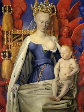 Agnes Sorel as Madonna with Child by Jean Fouquet