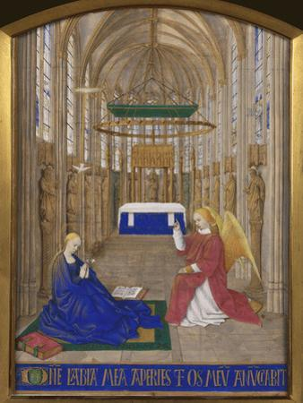 Annunciation To Mary by Jean Fouquet