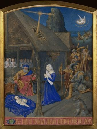 Birth of Christ and Adoration of the Shepherds by Jean Fouquet
