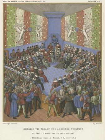 Charles VII Holding a Public Audience by Jean Fouquet