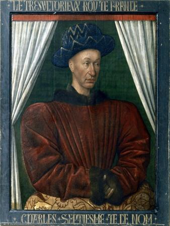 Charles VII of France, 15th Century by Jean Fouquet
