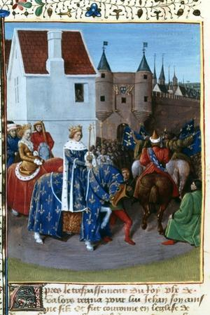 Entry of John II to Paris, 14th Century, (1455-146) by Jean Fouquet