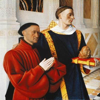 Etienne Chevalier and Saint Stephen by Jean Fouquet