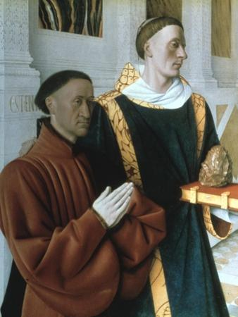 Etienne Chevalier and St Stephen, C1450 by Jean Fouquet