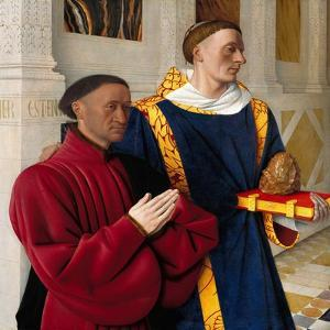 Étienne Chevalier with Saint Stephen, Ca 1454 by Jean Fouquet