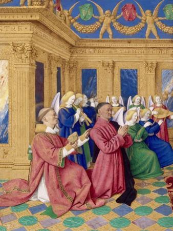 Étienne Chevalier with Saint Stephen, Ca 1455 by Jean Fouquet