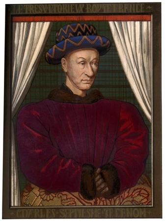 King Charles VII of France (1403-146), C1445 by Jean Fouquet