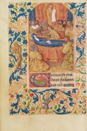Ms Latin 13305 Fol.88V the Death of the Virgin, from 'Heures a L'Usage De Rome', C.1465 by Jean Fouquet