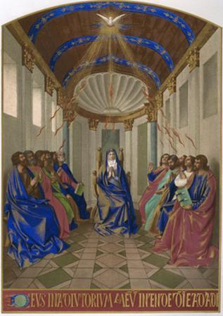 Pentecost, Fouquet by Jean Fouquet
