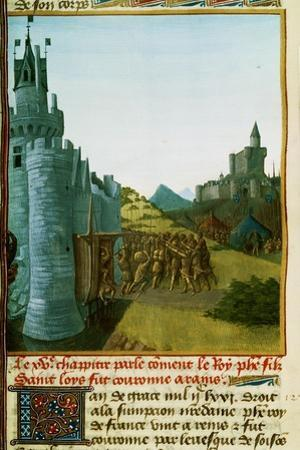 Philippe III le Hardi,French King 1270-1285,captures the castle Foix to avenge the murder of Arnaud by Jean Fouquet
