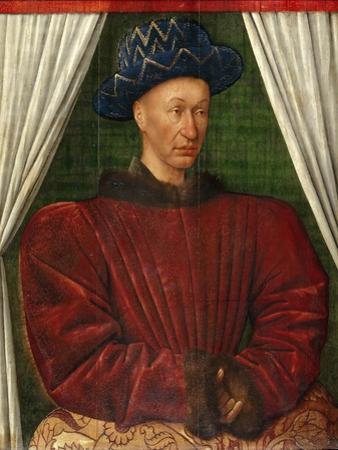 Portrait of the King Charles VII of France, 1445-1450 by Jean Fouquet