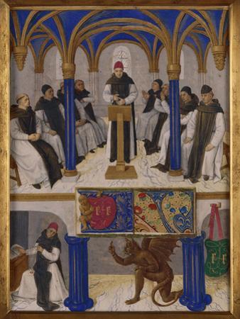 St. Bernard Teaching by Jean Fouquet