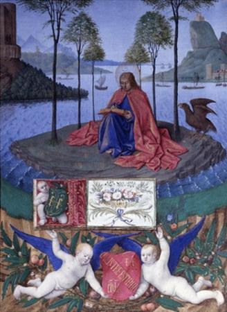 St John on the Island of Patmos by Jean Fouquet by Jean Fouquet