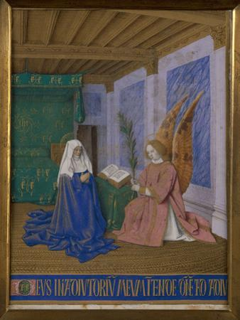 The 2nd Annunciation To Mary by Jean Fouquet