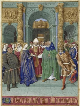 The Marriage of Mary and Joseph (Hours of Étienne Chevalie) by Jean Fouquet