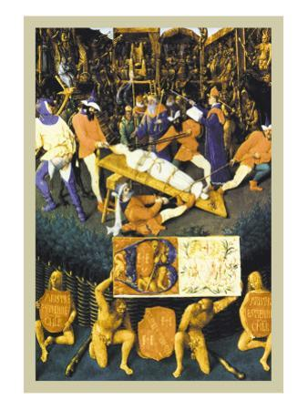 The Martyrdom of Saint Apollonia by Jean Fouquet