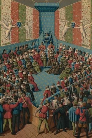 Verdict on John II of Alencon, 15th Century by Jean Fouquet