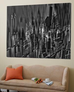 Asbtract City Scene III by Jean-Fran?ois Dupuis