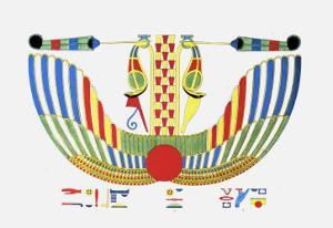 The Winged Disk, The Emblem of Thoth by Jean-Fran�s Champollion