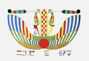 The Winged Disk, The Emblem of Thoth by Jean-Fran?s Champollion