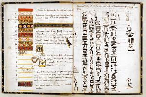 Hieroglyphs in the Notebook of Jean-Francois Champollion, C1806-1832 by Jean-Francois Champollion