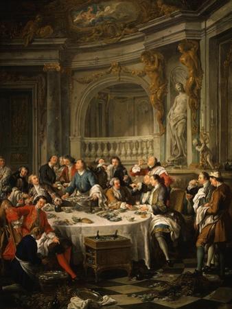 Le Déjeuner D'Huîtres (Oyster Dinner) 1735 by Jean Francois de Troy