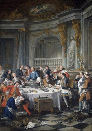 The Oyster Lunch. 1735