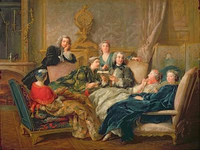 The Reading from Moliere, C.1728