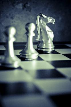 Black and White Chess V by Jean-François Dupuis
