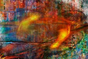 Colorful Fire Abstract by Jean-François Dupuis