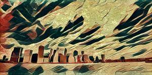 Distorted city scene 22 by Jean-François Dupuis