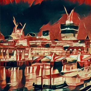 Distorted city scene 23 by Jean-François Dupuis