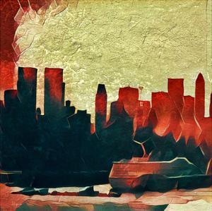 Distorted city scene 28 by Jean-François Dupuis