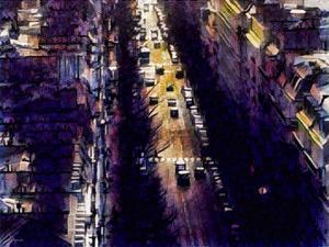 Distorted city scene 4 by Jean-François Dupuis