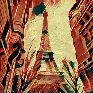 Distorted city scene 7 by Jean-François Dupuis