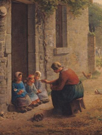Feeding the Young, 1850 by Jean-François Millet